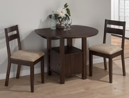 Jofran 743-40-4x811KD BEDFORD ACACIA FINISH DOUBLE DROP LEAF TABLE SET