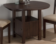 Jofran 743-40 BEDFORD ACACIA FINISH DOUBLE DROP LEAF TABLE with STORAGE BASE
