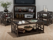 Jofran 754-1-3-4-7 APEX DARK BROWN FINISH OCCASIONAL TABLE SET