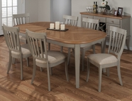 Jofran 771-78-4X814KD POTTERSVILLE ANTIQUE GREY FINISH OVAL LEG TABLE SET