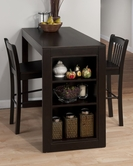 Jofran 810-48-4XBS293KD MARYLAND MERLOT COUNTER HEIGHT TABLE with STORAGE Dining Set