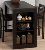Jofran 810-48 Maryland Merlot Counter Height Table With Storage On One Side