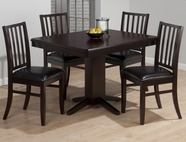 Jofran 825-44B-T-4X323KD ASPEN MERLOT FINISH PEDESTAL TABLE SET