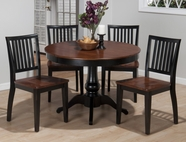 "Jofran 841-42B-T-4X461KD MADISON COUNTY 42"" ROUND FIXED TOP TABLE SET"