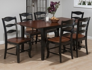 Jofran 841-66-4X278KD MADISON COUNTY RECTANGLE TABLE SET