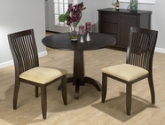 Jofran 845-40B-T-4x752KD DARK CHIANTI FINISH CENTER PEDESTAL TABLE SET