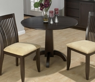 Jofran 845-40B-T DARK CHIANTI FINISH CENTER PEDESTAL TABLE