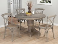 Jofran 856-48B-T-4X693 BURNT GREY FINISH PEDESTAL TABLE SET