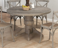 Jofran 856-48B-T BURNT GREY FINISH PEDESTAL TABLE