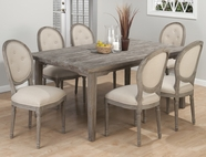 Jofran 856-72-4X948 BURNT GREY FINISH RECTANGLE LEG TABLE SET