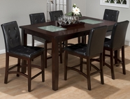 Jofran 863-42-4XBS945KD CHADWICK ESPRESSO FINISH RECTANGLE COUNTERHEIGHT TABLE SET