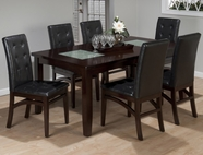 Jofran 863-72-4X945KD CHADWICK ESPRESSO FINISH RECTANGLE EXTENSION TABLE SET