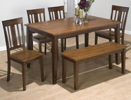 Jofran  875-60-4X265KD KURA ESPRESSO / CANYON GOLD FINISH RECTANGLE TABLE SET