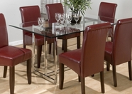 Jofran 888-42B-G CARLSBAD CHERRY FINISH CHROME TABLE