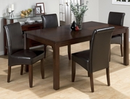 Jofran 888-73-4X480KD CARLSBAD CHERRY FINISH FLOATING BUTTERFLY LEAF TABLE SET