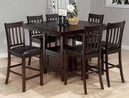 Jofran 933-48B-T-4XBS429KD TESSA CHIANTI FINISH COUNTER HEIGHT SQUARE TABLE SET