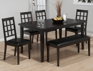 Jofran 936-60-4X841KD COVENTRY ESPRESSO FINISH RECTANGLE TABLE SET