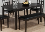 Jofran 936-60 COVENTRY ESPRESSO FINISH RECTANGLE TABLE with FIXED TOP
