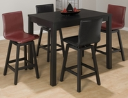 Jofran 960-30-4XBSS480KD BASIC BLACK FINISH COUNTER HEIGHT RECTANGLE TABLE SET