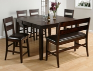 Jofran 972-62-4xBS762KD DARK RUSTIC PRAIRIE FINISH COUNTER HEIGHT TABLE SET