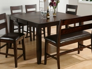 Jofran 972-62 Dark Rustic Prairie Finish Counter Height Table With Butterfly Leaf