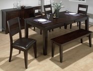 Jofran 972-77-4x762KD DARK RUSTIC PRAIRIE FINISH TABLE SET