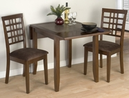 Jofran 976-30-4X515KD CALEB BROWN FINISH DOUBLE DROP LEAF TABLE SET