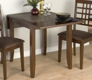 Jofran 976-30 CALEB BROWN FINISH DOUBLE DROP LEAF TABLE with TERRA TILES
