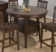 Jofran 976-48B-T Caleb Brown Finish Counter Height Canted Leg Table