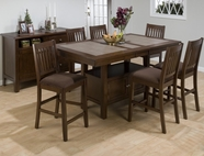 Jofran 976-72B-T-4XBS671KD CALEB BROWN FINISH COUNTER HEIGHT TABLE SET