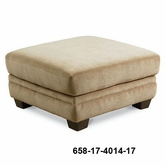 Lane 658-17 Dillan Stationary Ottoman with Block Legs