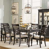 Legacy Classic 1521-222-240KD Glen Cove Rectangular Top Table and Upholstered Chair Dining Set