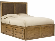 Legacy Classic 2700-4807K Logan Complete Upholstered Panel Bed w/Super Storage CA King 6/0
