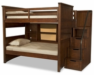 Legacy Classic 2960-8508K-8155-8000 Dawson's Ridge Complete Full over Twin Bunk w/Bedside Storage