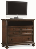 Legacy Classic 3305-2800 Thornhill Media Chest (3 Drawers w/Rem. Dividers in Top Drawers, 1 Shelf, Cord Access)