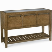 Legacy Classic 3650-180 Novella Sideboard (3 Drawers w/Silver Tray & Rem. Dowels, 1 Shelf, Inset Stainless Steel Top)