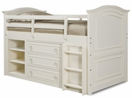 Legacy Classic 485-8333-8330-8320 Enchantment Twin Size Mid Loft Bed With Dresser Storage And Ladder