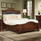 Legacy Classic 800-4707K Heritage Court Complete Leather Platform Bed CA King 6/0
