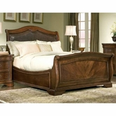 Legacy Classic 800-4755K Heritage Court Complete Leather Sleigh Bed Queen 5/0