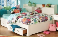 Legacy Classic 9910-5504K Park City in White Complete Bookcase Storage Lounge Bed Full 4/6