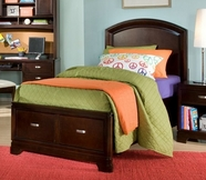 Legacy Classic 9980-4744K Park City in Merlot Complete Platform Storage Bed Full 4/6