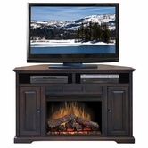 "Legends Furniture BW5102.DNC Brentwood 56"" Corner Fireplace"