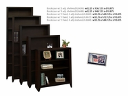 Legends Ul6672.Moc Bookcase w/1 Fixed, 3 Adj Shelves