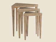 Lexington 01-0830-952 Monterey Sands Cupertino Triangular Nesting Tables