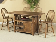 Liberty 139-T4002-4XB100024 Farmhouse Trestle Table dining set