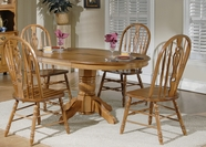 Liberty 18-T560-C561S Furniture 18-T560 Pedestal Table Top Casual Dining Set