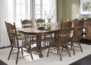 Liberty 18-T570-C563S Furniture 18-T570 Double Pedestal Table Dining Set
