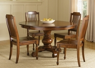 Liberty 206-T4860-C1500S Furniture Round Pedestal Table Set (206-T4860)