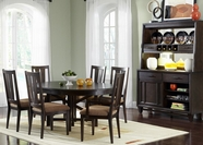 Liberty 294-T5472-4XC6501S Visions Oval Pedestal Table Dining set