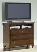 Liberty 341-BR45 Hamilton Media Chest